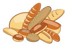 Pão. Ilustração do vetor Fotos de Stock