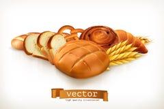 Pão, ilustração do vetor ilustração stock