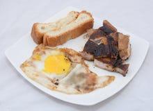Pão indiano da carne do ovo frito da rua Fotografia de Stock