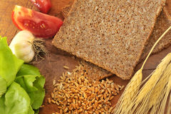 Pão integral cortado Imagem de Stock Royalty Free