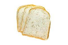 Pão integral inteiro branco Fotos de Stock Royalty Free
