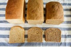 Pão inteiro caseiro recentemente cozido da grão do trigo Imagens de Stock Royalty Free
