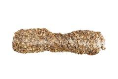 Pão inteiro tradicional isolado no branco Imagens de Stock Royalty Free