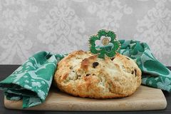 Pão irlandês da soda para o dia do St Patricks Imagens de Stock Royalty Free