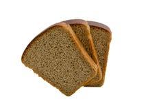Pão isolado no branco Fotos de Stock Royalty Free