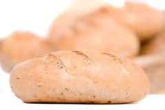 Pão, isolado no branco Fotos de Stock Royalty Free