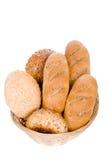 Pão, isolado no branco Fotografia de Stock Royalty Free