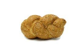 Pão isolado no fundo branco Fotografia de Stock