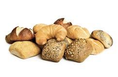 Pão isolado no fundo branco Imagens de Stock