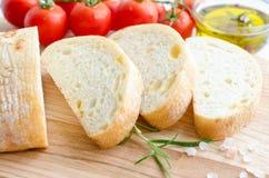 Pão italiano do ciabatta fotografia de stock