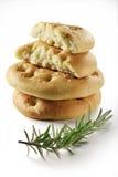 Pão liso de Focaccia com rosemary_6 Imagem de Stock