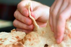 Pão liso do traditiona árabe fotos de stock