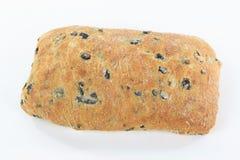 Pão mediterrâneo da azeitona preta de Ciabatta. Fotos de Stock