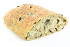 Pão mediterrâneo da azeitona preta de Ciabatta. Fotos de Stock Royalty Free