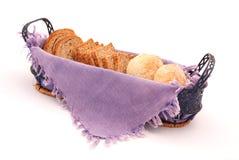Pão na cesta Imagens de Stock Royalty Free