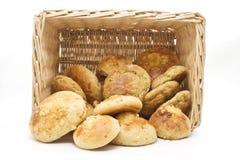 Pão na cesta Fotografia de Stock Royalty Free