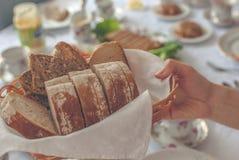 Pão na cesta Fotografia de Stock