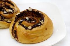 Pão na forma da montanha do chocolate Imagens de Stock