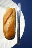 Pão na placa Fotografia de Stock Royalty Free