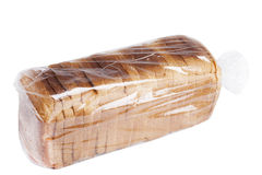 Pão no branco Fotos de Stock Royalty Free