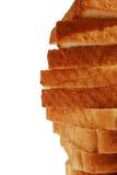 Pão no close-up da crosta das fatias Fotos de Stock