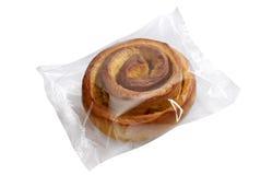 Pão no folie plástico transparente Imagem de Stock