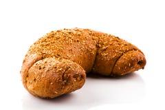 Pão no fundo branco Foto de Stock