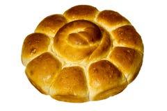 Pão no fundo branco isolado O pão é padaria Fotos de Stock