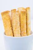 Pão no vidro isolado no fundo branco Foto de Stock
