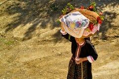 Pão para o feriado religioso em Olympos, ilha de Karpathos Fotos de Stock
