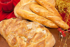 Pão para o Natal imagens de stock royalty free