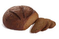 Pão preto cortado Imagens de Stock