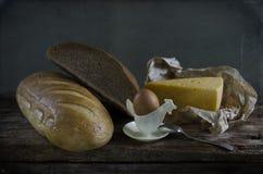 Pão, queijo e ovos Fotografia de Stock Royalty Free
