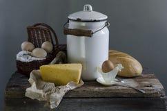 Pão, queijo e ovos Foto de Stock Royalty Free