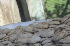 Pão quente delicioso egípcio Foto de Stock