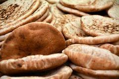 Pão recentemente cozido do pão árabe Fotografia de Stock