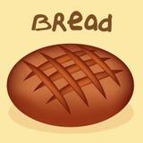 Pão recentemente cozido no fundo branco ilustração stock
