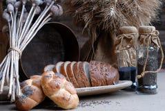 Pão, retro imagem de stock