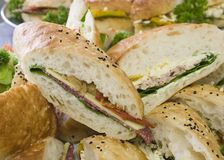 Pão Rolls do almoço do gourmet Fotos de Stock Royalty Free