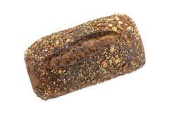 Pão sueco com as sementes isoladas no branco imagens de stock royalty free