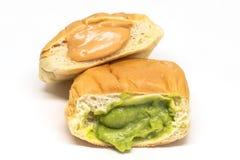 Pão tailandês do creme do ovo Fotos de Stock