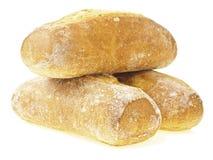 Pão transversal do baguette da pilha Foto de Stock Royalty Free