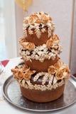 Pão ucraniano do casamento Símbolo tradicional do casamento Imagem de Stock Royalty Free