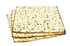 Pão Unleavened no branco imagem de stock