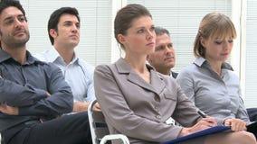 Pädagogische Konferenz des Geschäfts stock video footage