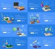 Pädagogische Thema-informative Internet-Seiten lizenzfreie abbildung