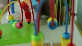Pädagogisches Spielzeug für Kinder stock footage