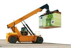 Päfyllning av pengar Byggande av affären framgång Arkivbilder