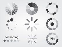 Päfyllningssymbol vektor illustrationer