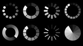 Päfyllningssymbolsuppsättning royaltyfri illustrationer